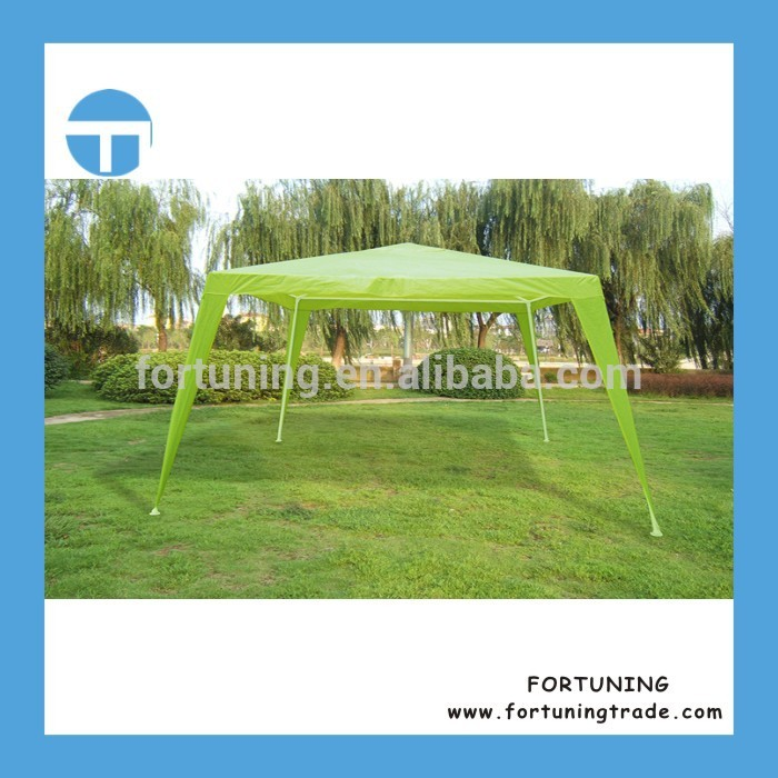 Quick replied service PE grass floor easy up lightweight gazebo