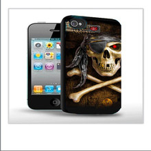 2014 newest supply hot sell ,3d skull cell phone case for iphone4/5/5S/5C and samsung