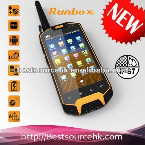 Manufacture Runbo X5 IP67 waterproof mobile phone GPS/3G/Bluetooth/<strong>Wifi</strong>/Walkie-Talky skype