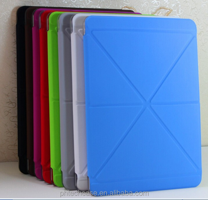 Creative Transformer PU smart cover leather case for Ipad AIR 2 /ipad 6