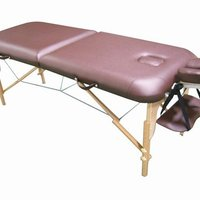 Portable 2 Section Wooden Massage Table