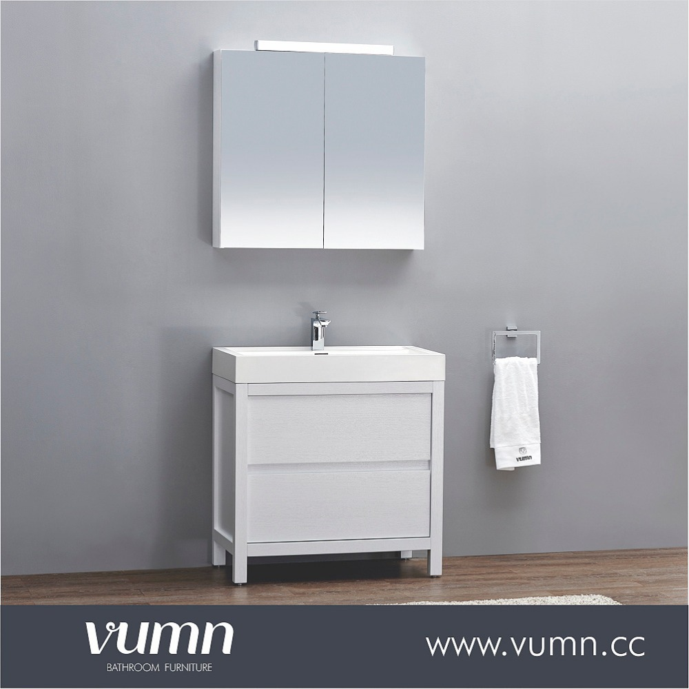 White Lacquer Modern Discount Cheapest Corner Bathroom Vanities And Sinks