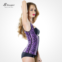 S-SHAPER 2016 Purple Animal Print Latex Girdle Vest