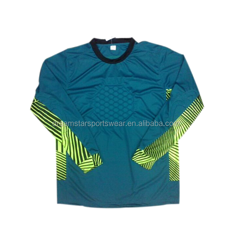 Wholesale Orange Goalkeeper Clothes Youth Soccer Jersey