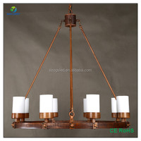 Vintage Rusty Iron and Marble hanging pendant lamp for hotel project