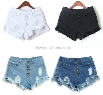W90697A 2015 summer europe style women fashion jeans short pants denim shorts