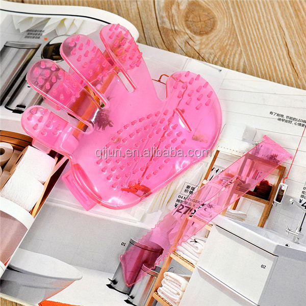 Soft Dog Bath Brush Comb Cleaning Massage Grooming Glove