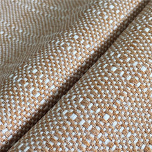 RZ1799 Fire-proof 300D Polyester Cation Mixed Woven Slub Oxford Anti-Fungus Fabric For Curtain Plain Hemp Linen Cloth