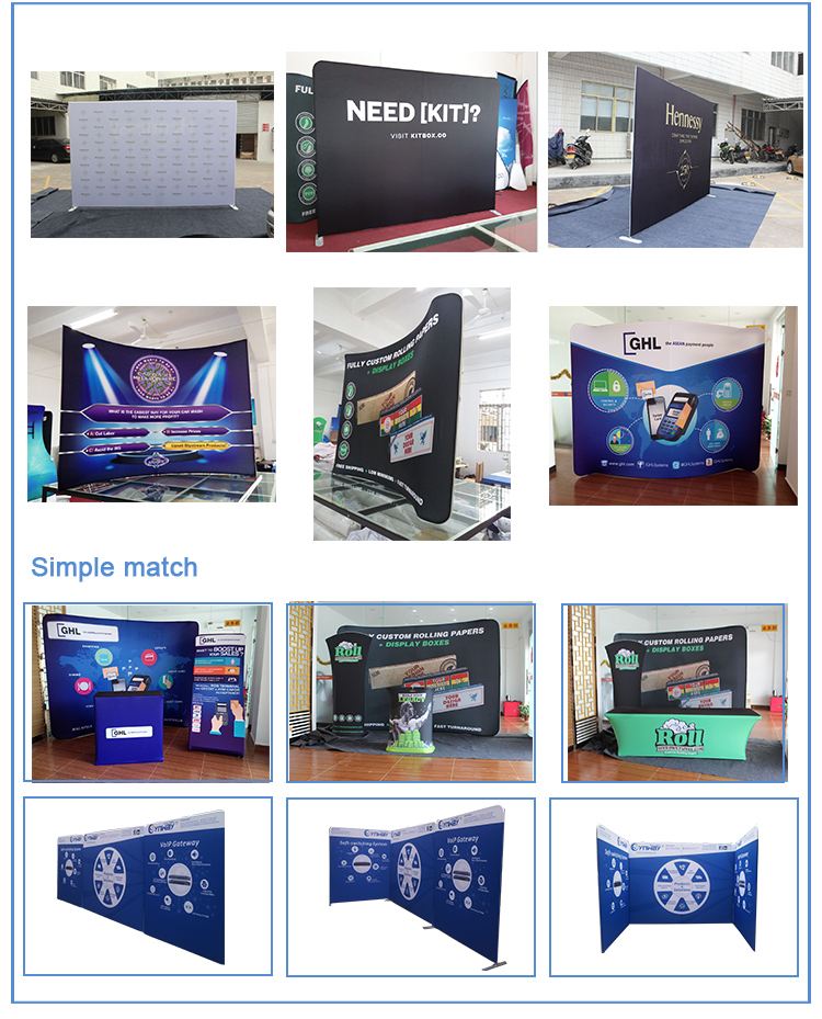 2019 Newest Style Advertising Folding Promotion Pop Up Stand customized portable exhibition display booth 3x3