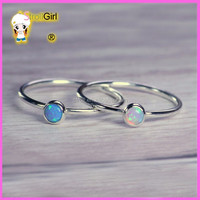 sterling silver 925 rings opal natural stone jewelry making