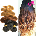 Wholesale Peruvian Three Tone Ombre Hair Weave