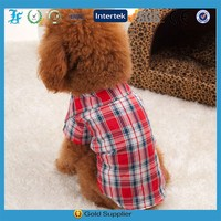Trendy Hot Sell High quality Plaid Shirt Pet Apparel for dog