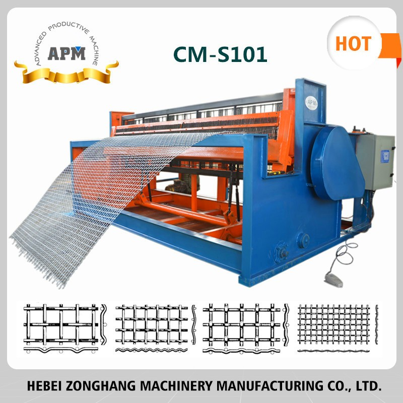 Semi Automatic Crimpped Wire Mesh Machine for wire screen