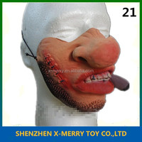 villain prank cosplay halloween props china wholesale funny party half face mask