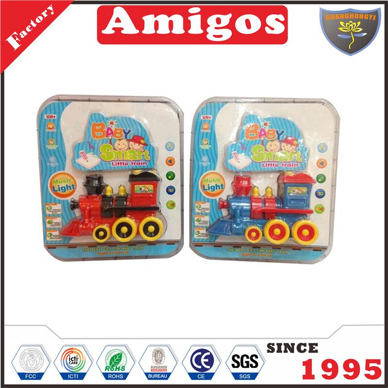 excellent factory Friction train with light music letter truck toy for children