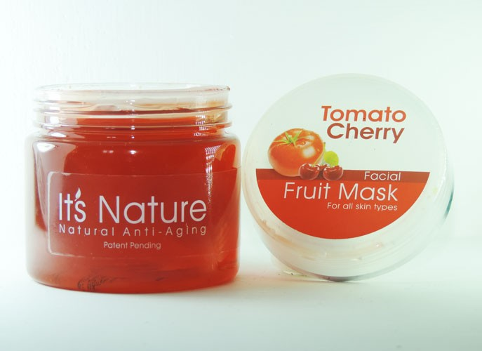 It's Nature Tomato & Cherry Hydrating Moisturizing Aqua Mineral Fruit Gel Facial Mask for All Skin Types