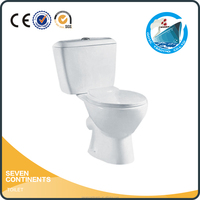 Siphonic dual flush toilet two piece ceramic sanitary ware toilet