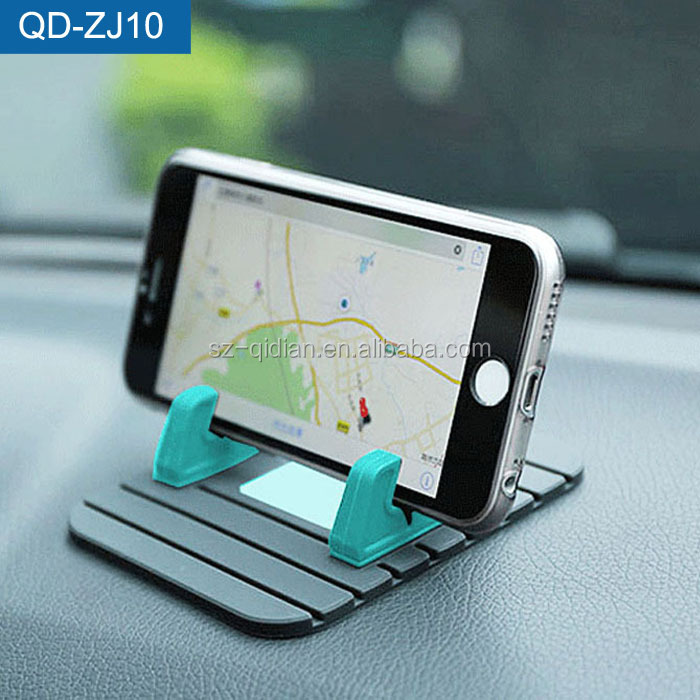 High Quality Dashboard Silicone Mobile Car Phone Holder,Desktop Rubber Band Anti-slip Mat Stand Used in Car Or in House