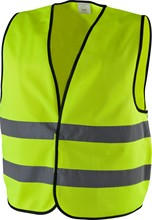 100% Cotton 200gsm fabric safety vest with two reflective tape