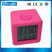 Electric automatic multifunction lcd calendar temperature desk clock