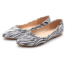 2014 New zebra pattern flat women shoes