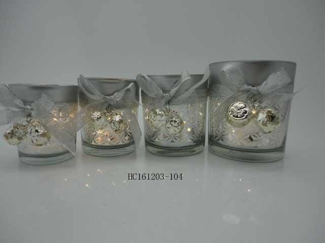 Wedding table centerpiece stained glass candle holders