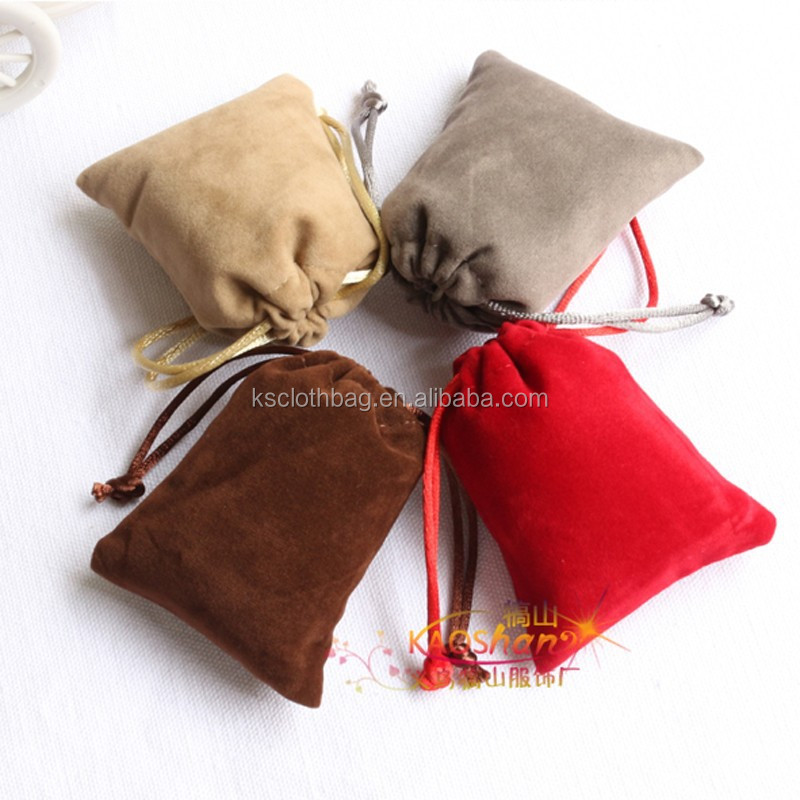 Velvet jewelry pouch custom logos bracelet earring necklace pendant luxury gift drawstring bags factory wholesale