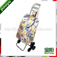 sturdy promotion shopping trolley bag fruit carts with 2 wheels