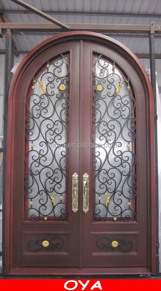 wooden door iron security doors