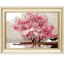 Beautiful flower tree canvas oil menglei painting by numbers kits