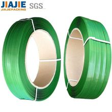 green 13mm PP PET plastic packing belt with 8%~20% Elongation