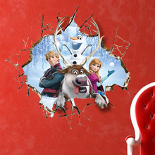 Removable home decor kids bedroom frozen wall stickers