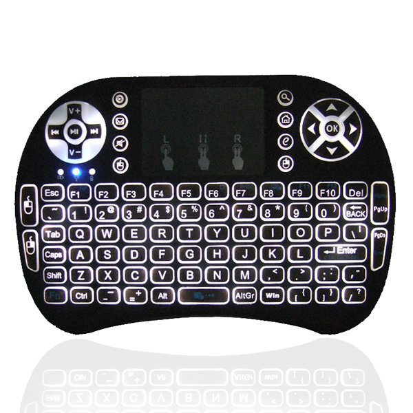 1Chip best selling wireless keyboard and mouse i8 pro 2.4g wireless backlit rii i8 keyboard