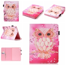 Wallet Printed leather case pouch for iPad 3 4, Skull PU credit card case for iPad Air Air 2