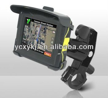 New design 3.5inch touch screen TFT waterproof GPS for motorcycle and Car(both use)