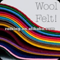 thin soft colored wool felt