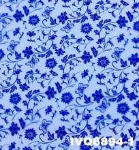 Porcelain water transfer hydrographic printing flower film for Resin, Glass, Ceramic