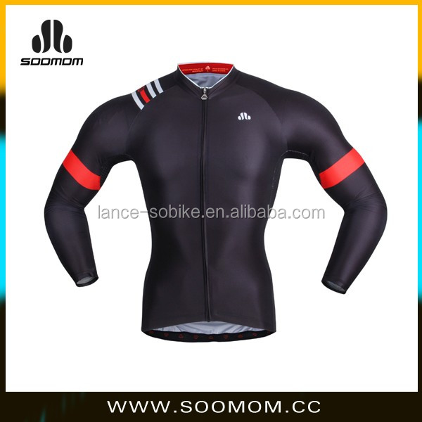 Cool-Keeping Sublimation Custom Long Sleeve Cycling Jersey Pro Team