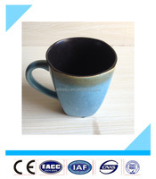 Cheap price and hot sellling bulk 14oz blue color ceramic tea square mugs