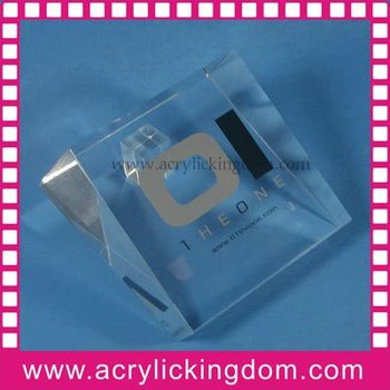 Silk screen printing acrylic LOGO block