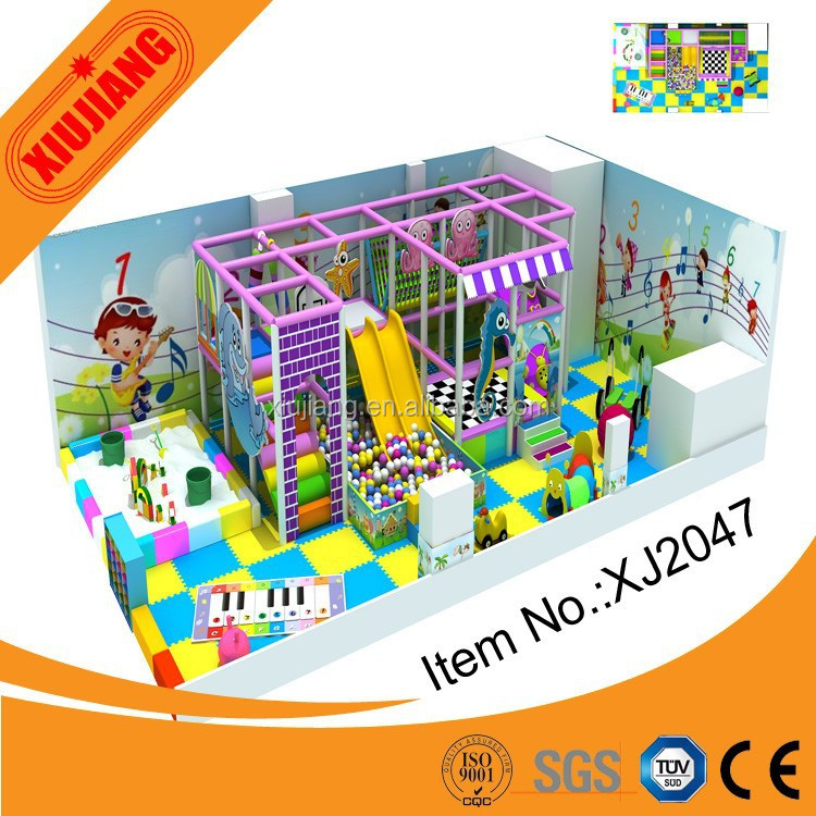 Used School Indoor playground equipment for sale (XJ2047)