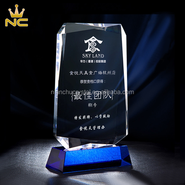 Facets Cut New Design Blank Crystal Plaques Recognition Awards Plaques Trophies Made In China