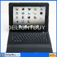 for IPad cover with Bluetooth Wireless Keypad BLACK leather case with keyboard