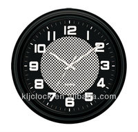 Decorative Wall Clock WH-6735 Black Frame White Hand