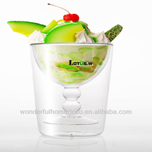 smoothie glass cup,frozen drink glass cups,glass dessert cups