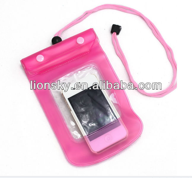 Color Waterproof Bag Case Cover Bag For iphone 5 4S 4G Samsung Galaxy S2 I9100