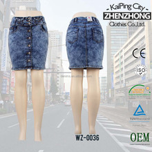 Hot Summer Flare Design Skirts Young Lady Denim Short Skirts