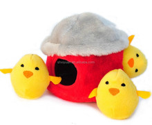 Cuddly russ round small plush toys yellow stuffed chicken toys for kids