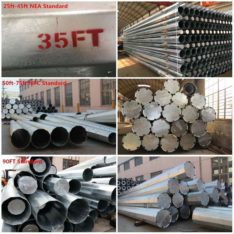 33KV hot dip galvanized electric pole fittings hardware for power transmission