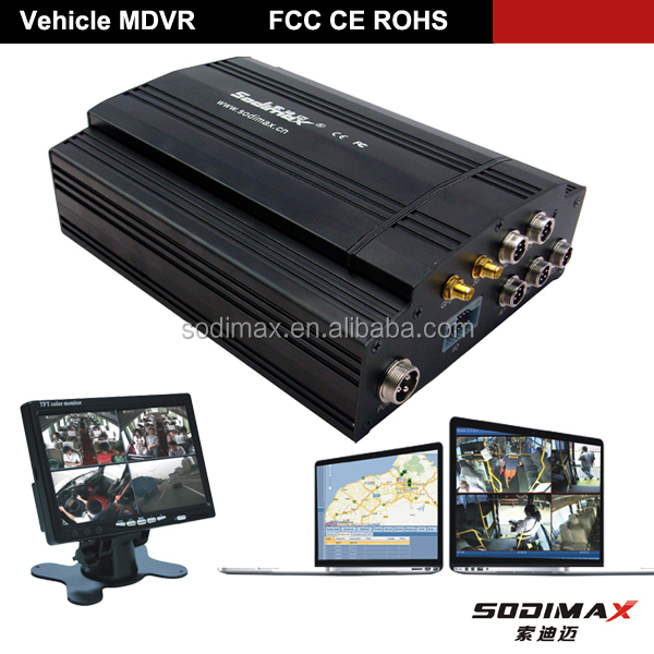 Manufacture 3G car 360 degree multi camera DVR HDD mobile dvr/MDVR for trailer with GPS WIFI